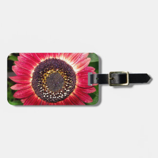Crimson Sunflower Tags For Luggage