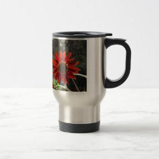 Crimson Sunflower Travel Mug