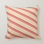 [ Thumbnail: Crimson & Tan Pattern Throw Pillow ]