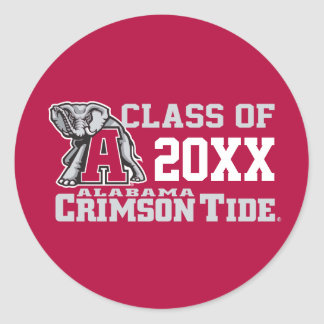Crimson Tide Class Year w/ Big Al Classic Round Sticker
