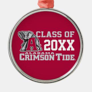 Crimson Tide Class Year w/ Big Al Metal Ornament