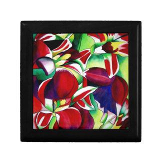 Crimson tropical Singapore Orchids flower art Gift Boxes