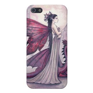 Crimson Twilight Fairy and Dragon iPhone Case iPhone 5/5S Cases