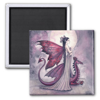 Crimson Twilight Fairy and Dragon Magnet
