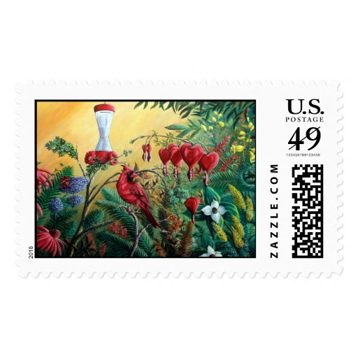 """Crimson Visitor"" Stamps"
