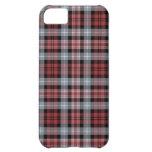 Crimson, White and Black Plaid iPhone 5C Case