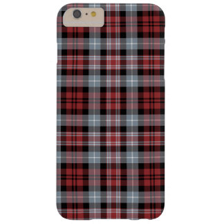 Crimson White and Black Plaid iPhone 6 Plus Case