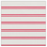 [ Thumbnail: Crimson & White Colored Lines Pattern Fabric ]