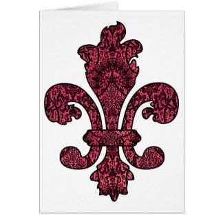 Crimson Wine Goth Greeting Card