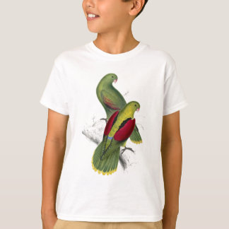 Crimson-Winged Parrakeet (Female and young male) b T-Shirt