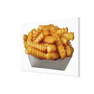 Crinkle-cut french fries canvas print