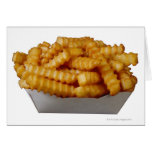 Crinkle-cut french fries card