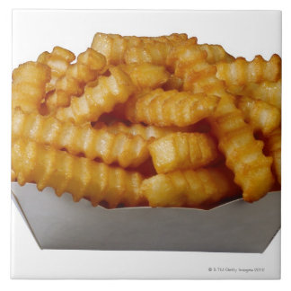 Crinkle-cut french fries ceramic tile