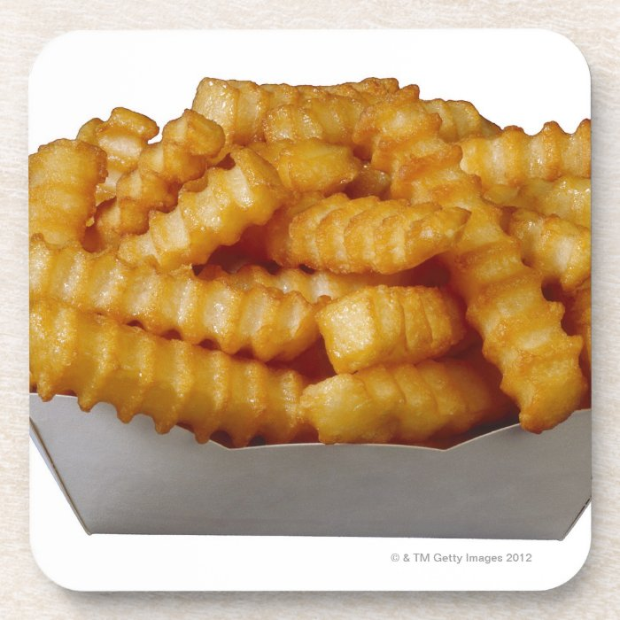 Crinkle-cut french fries coaster