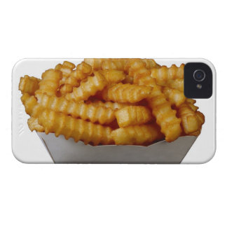 Crinkle-cut french fries iPhone 4 case
