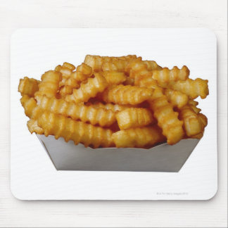 Crinkle-cut french fries mouse pad