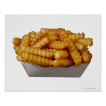 Crinkle-cut french fries print