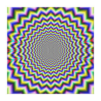 Crinkle Cut Psychedelia Gallery Wrap Canvas