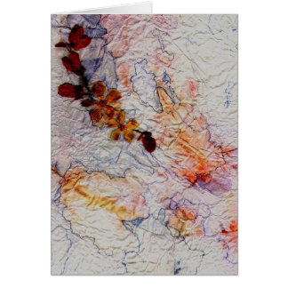 Crinkled and Pressed Greeting Card