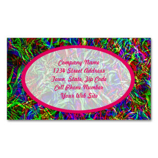Crinkled Rainbow Abstract Business Card Magnet