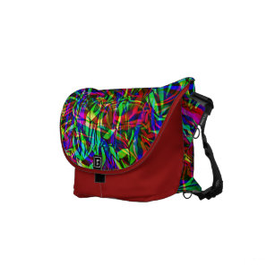 Crinkled Rainbow Abstract Small Messenger Bag