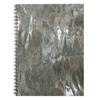 Crinkled Silver Foil Spiral Note Book