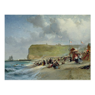 Crinolinas en la playa, Fecamp, 1871 Tarjetas Postales