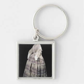 Crinoline dress, 1850-60 keychain