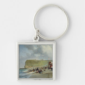 Crinolines on the Beach, Fecamp, 1871 Keychain