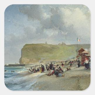 Crinolines on the Beach, Fecamp, 1871 Square Sticker