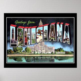 Criollo del poster del vintage de Luisiana