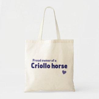 Criollo horse canvas bags
