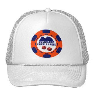 CRIPPLE COLORADO POKER CHIP TRUCKER HAT