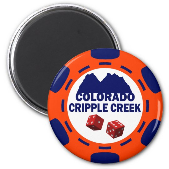 CRIPPLE COLORADO POKER CHIP MAGNET