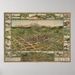 Cripple Creek Colorado 1896 Panoramic Map Poster