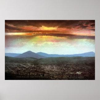 Cripple Creek Colorado Panoramic View VINTAGE Poster