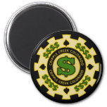 Cripple Creek Colorado Poker Chip 2 Inch Round Magnet