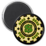 Cripple Creek Colorado Poker Chip Magnets