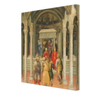 Crippled and Sick Cured at Tomb of St. Nicholas Canvas Print