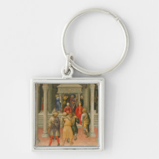 Crippled and Sick Cured at Tomb of St. Nicholas Keychain