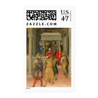 Crippled and Sick Cured at Tomb of St. Nicholas Postage