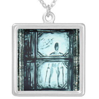 Crippled Man II Silver Plated Necklace