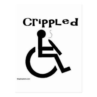 crippled postcard