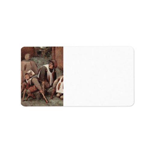 Cripples by Pieter Bruegel Custom Address Labels