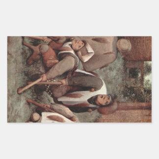 Cripples by Pieter Bruegel Rectangular Sticker