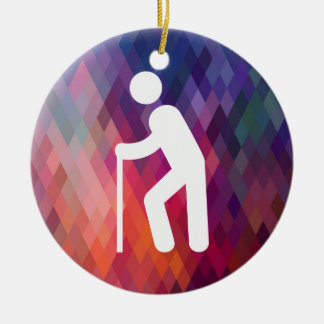 Cripples Minimal Double-Sided Ceramic Round Christmas Ornament