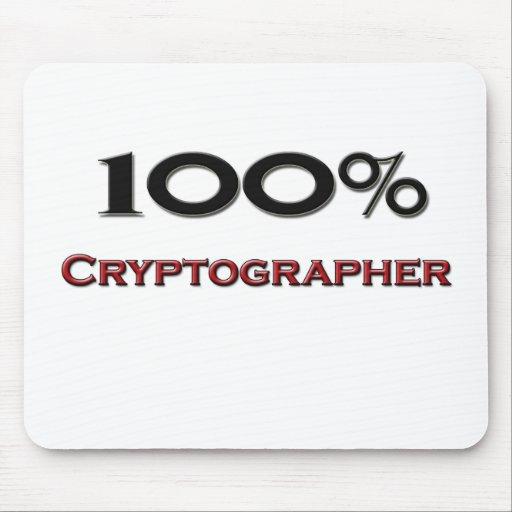 Criptógrafo del 100 por ciento alfombrillas de ratón