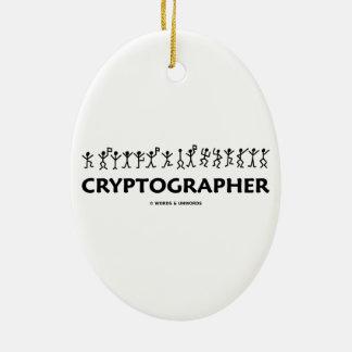 Criptógrafo figuras del palillo de los hombres de ornamento de navidad