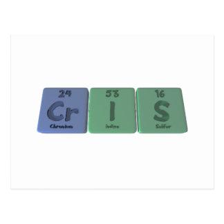 Cris as Chromium Iodine Sulfur Post Card