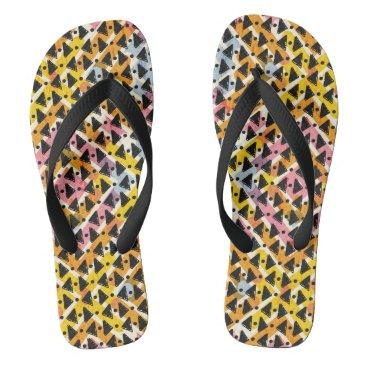 Beach Themed Cris cross look yellow blue pink black stylish flip flops